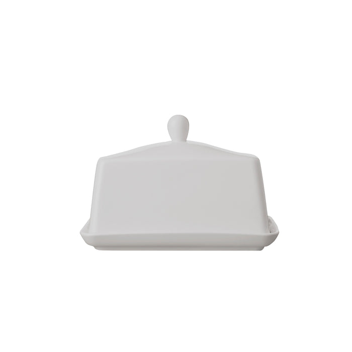 WHITE BASICS BUTTER DISH