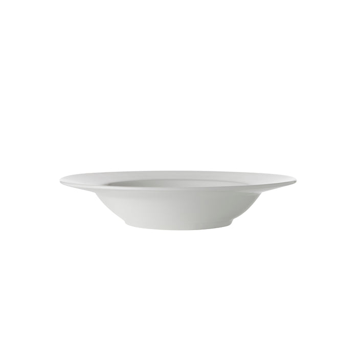 WHITE BASICS RIM SOUP BOWL 23CM