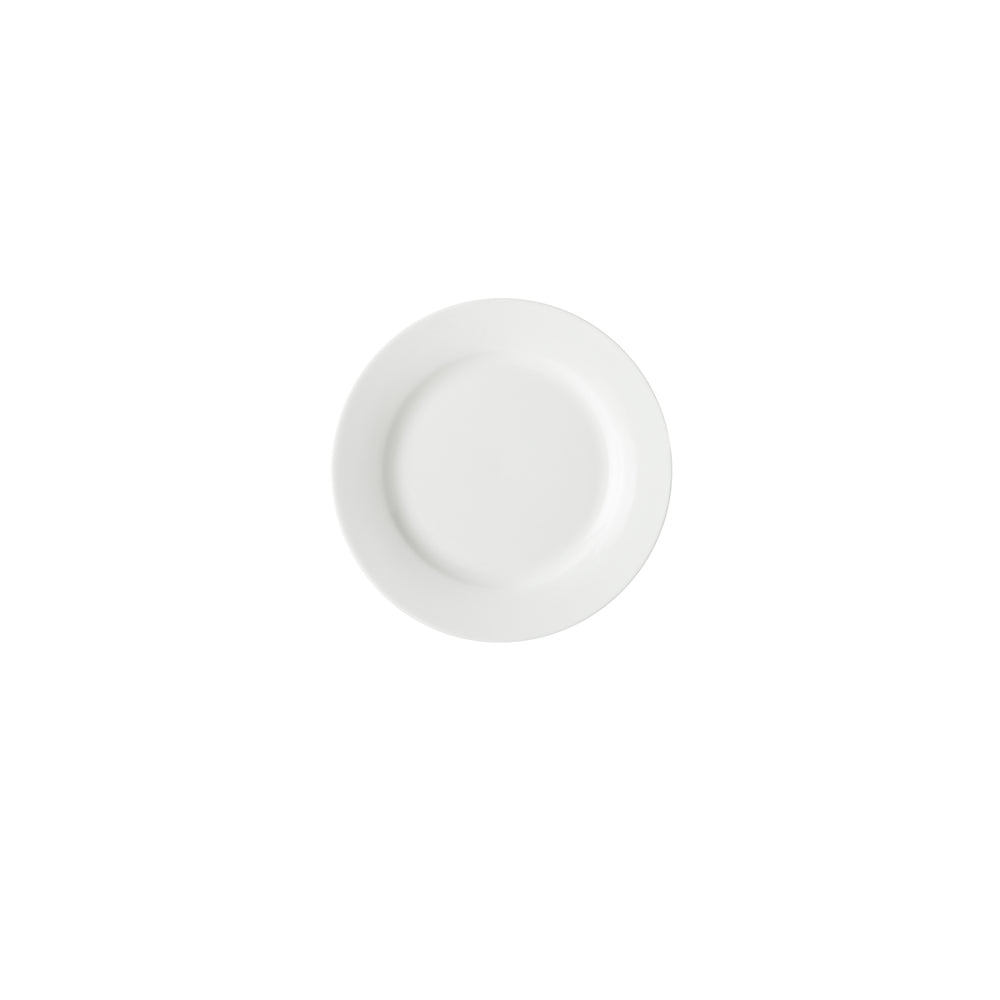 WHITE BASICS RIM SIDE PLATE 19CM