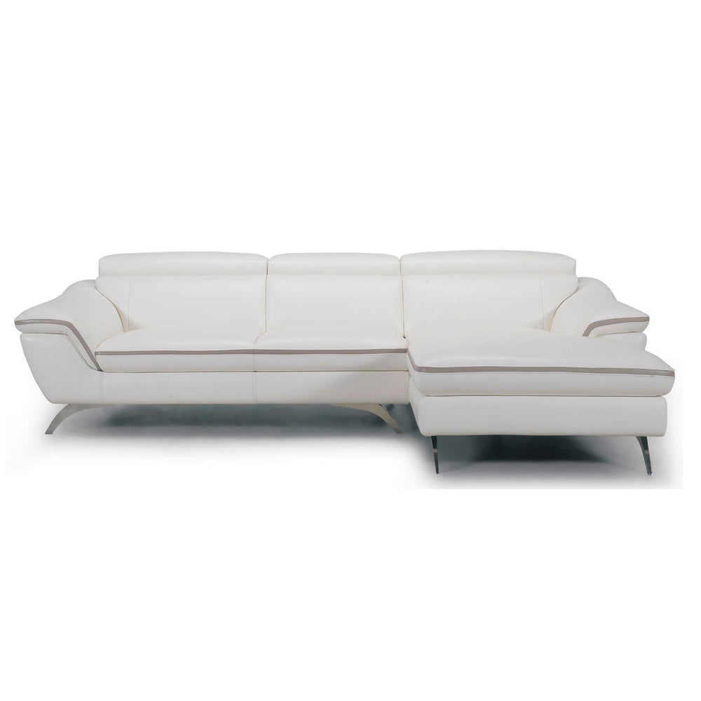 PURIVIAN LEATHER 3 SEATER WITH CHAISE