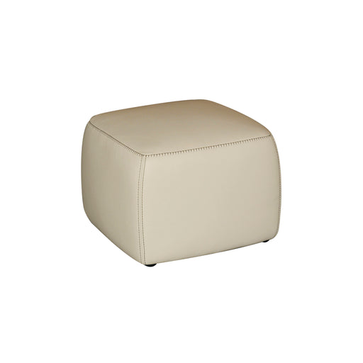 CUBIST LEATHER OTTOMAN