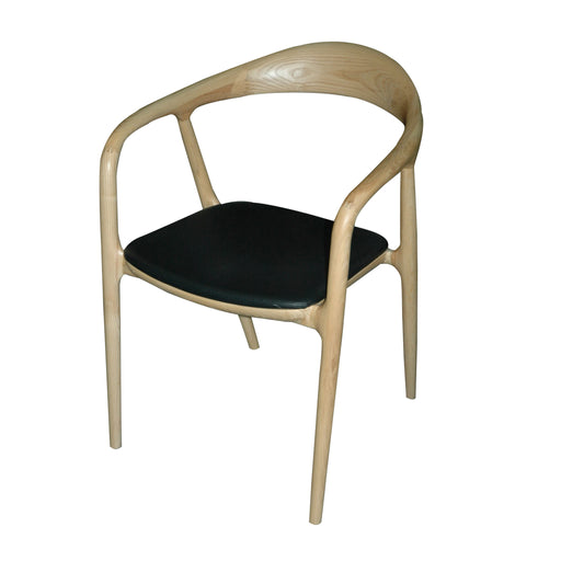 REPLICA HANS ARMED ROUNDED CHAIR NATURAL