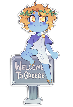 SMPEarth ItsAsaii Greece Sticker