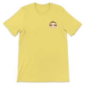 Trippy Embroidered Sloth Tee