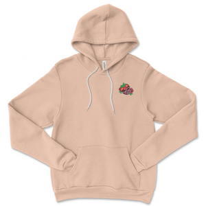 Roseriie Embroidered Strawberry Hoodie