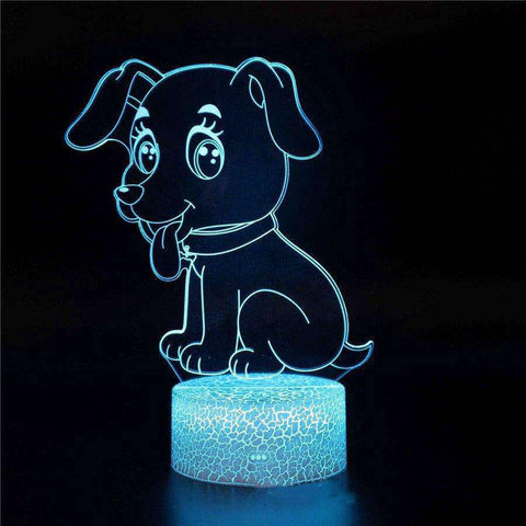 lampe 3d animaux - chiot - Torche-Astro