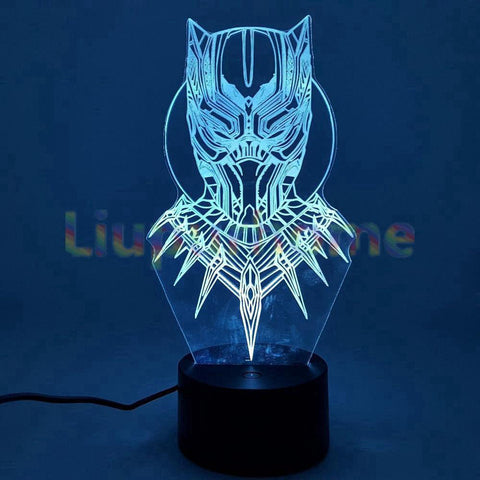 lampe 3d marvel - black panther masque - Torche-Astro