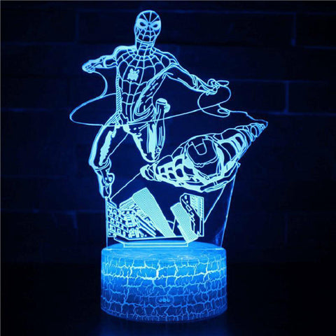 lampe 3d marvel - spiderman et ironman - Torche-Astro