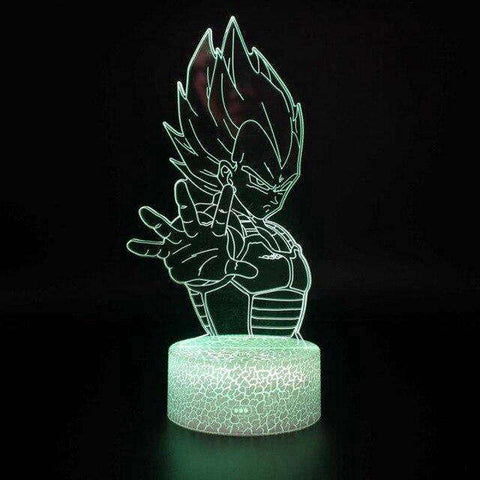 Lampe 3d dragon ball - Prince Vegeta - Torche-Astro