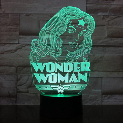 lampe 3d marvel - wonder woman figurine - Torche-Astro