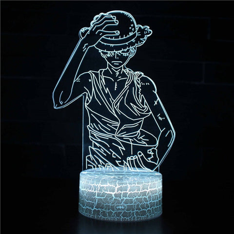 Lampe 3d One piece - Luffy serieux - Torche-Astro