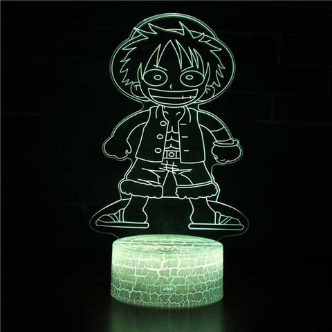 Lampe 3d One piece - Luffy content - Torche-Astro