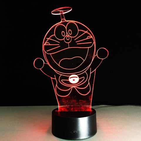 Lampe 3d Chat Bleu Doreamon - Torche-Astro