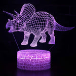 Lampe 3D dinosaure triceratops - Torche-Astro