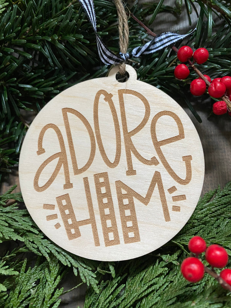 Adore Him Ornament