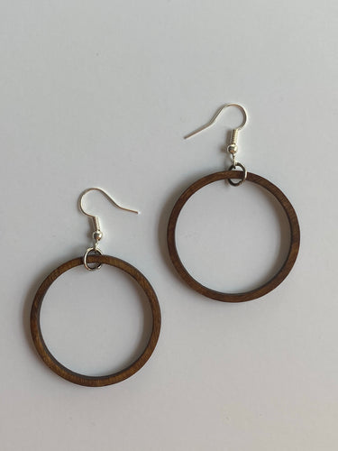 Hanging Open Circle Earrings