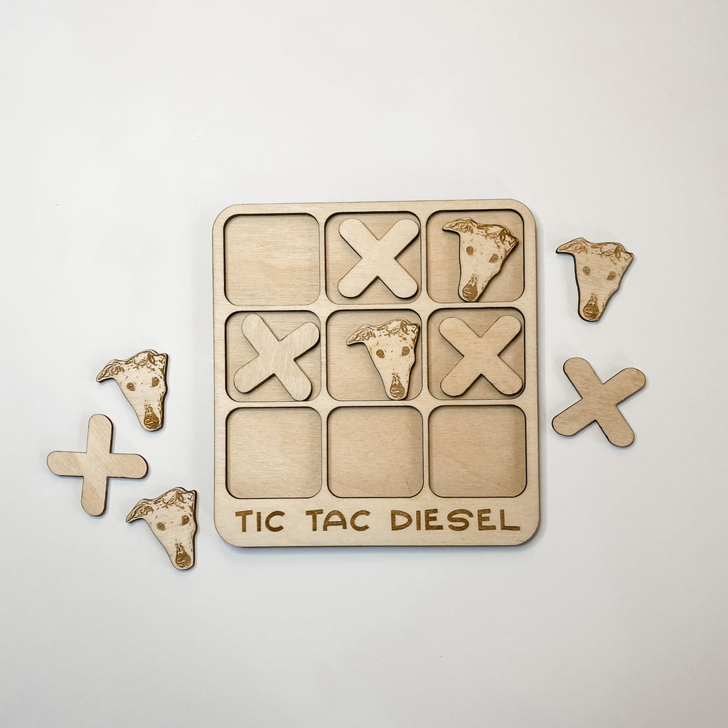 Custom Pet Tic Tac Toe Game and Stud Earrings Bundle