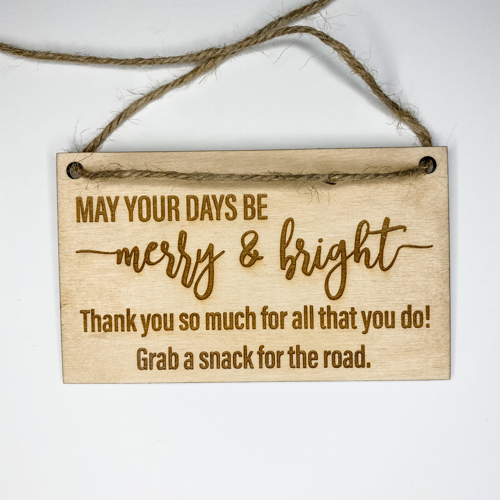Merry and Bright Thank You Tag