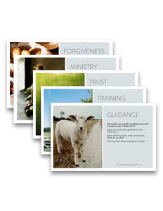 Journey: Visual Devotion Cards in Psalm 23