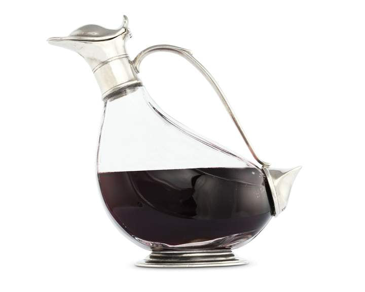 Duck Pewter Wine Decanter