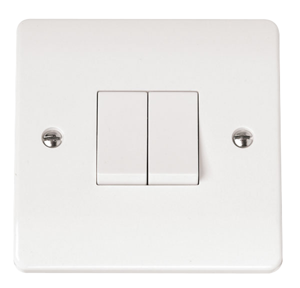 CLICK MODE 2-GANG 2-WAY 10A PLATE SWITCH
