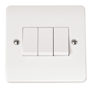 CLICK MODE 3-GANG 2-WAY 10A PLATE SWITCH