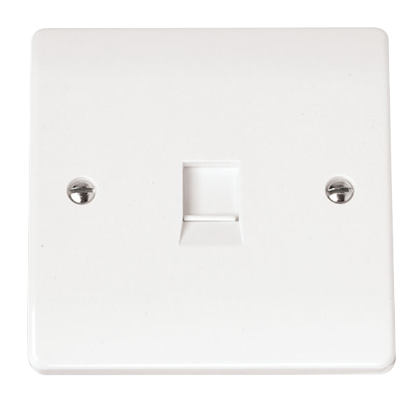 CLICK MODE FLUSH TELEPHONE OUTLET IRISH/US