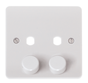 CLICK MODE MODE 2 GANG SINGLE DIMMER PLATE & KNOBS
