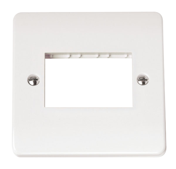 CLICK MODE SINGLE SWITCH PLATE 3 GANG APERTURE