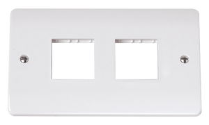 CLICK MODE DOUBLE SWITCH PLATE 4 GANG APERTURE
