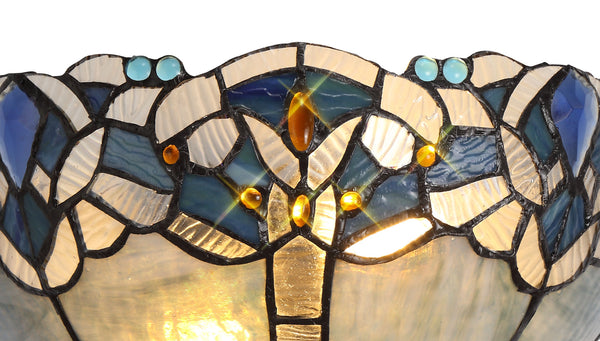 Atlantis Tiffany Semi Flush Ceiling Light
