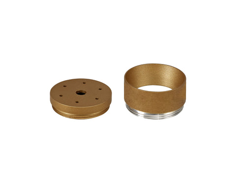 DELPH 2cm Face Ring & 1cm Back Ring Accessory Pack, Champagne Gold