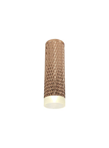 DELPH 1 Light 20cm Surface Mounted Ceiling GU10, Rose Gold/Acrylic Ring