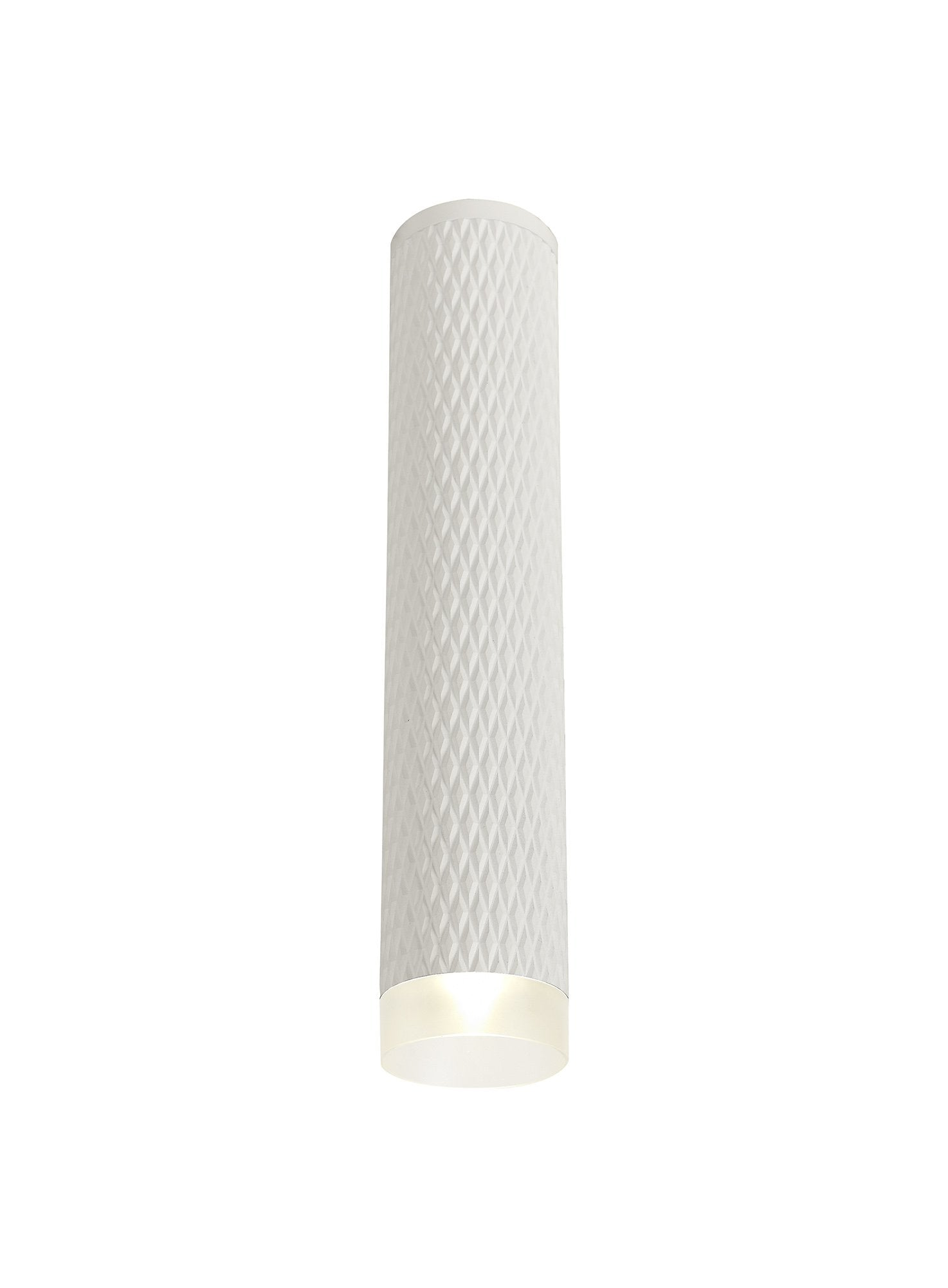 DELPH 1 Light 30cm Surface Mounted Ceiling GU10, Sand White/Acrylic Ring