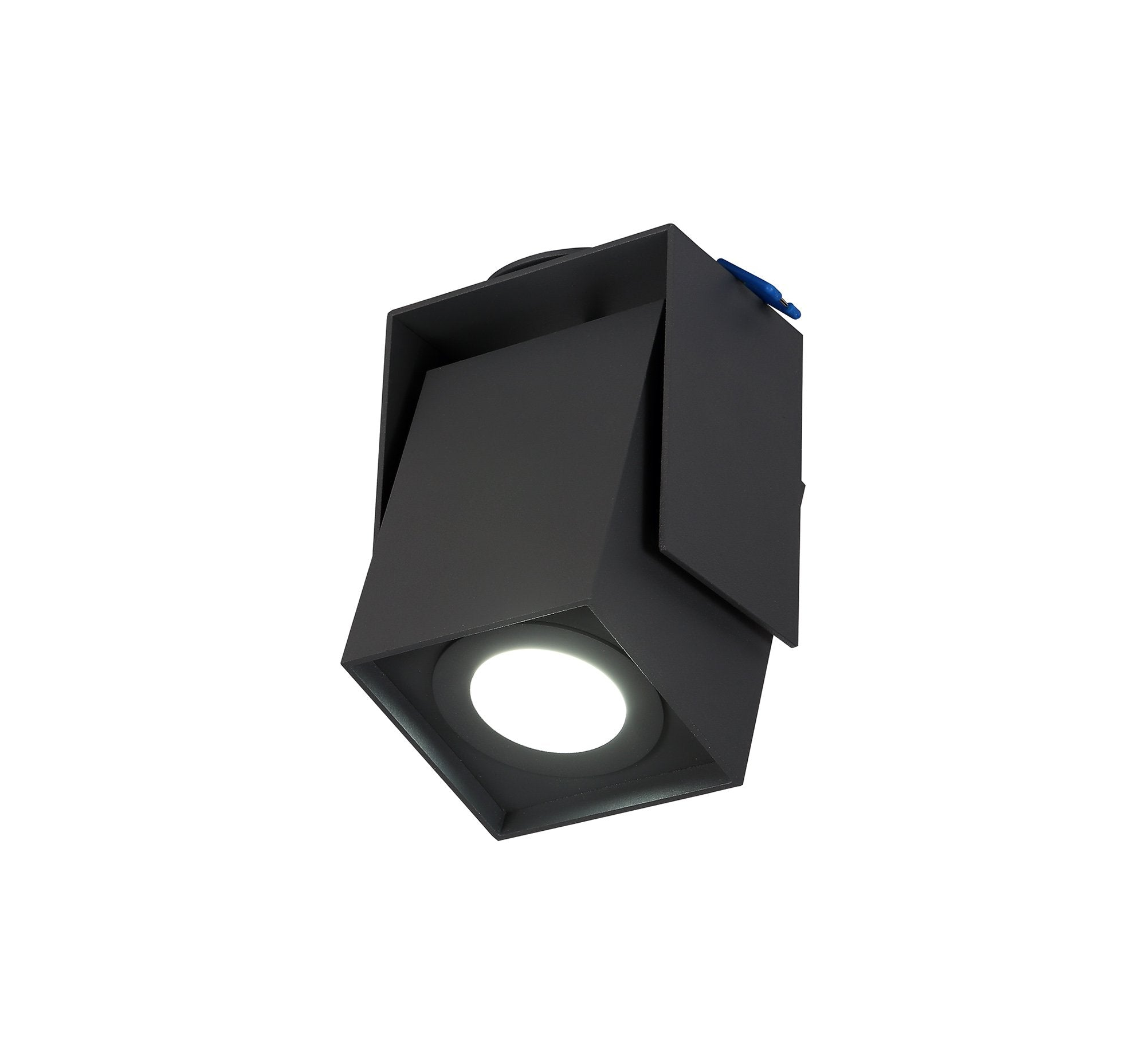 EVE Adjustable Square Spotlight, 1 Light GU10, Sand Anthracite, Cut Out: 62mm