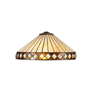 HITCHCOCK Tiffany 40cm Shade Only Suitable For Pendant/Ceiling/Table Lamp, Amber/Cclio/Crystal