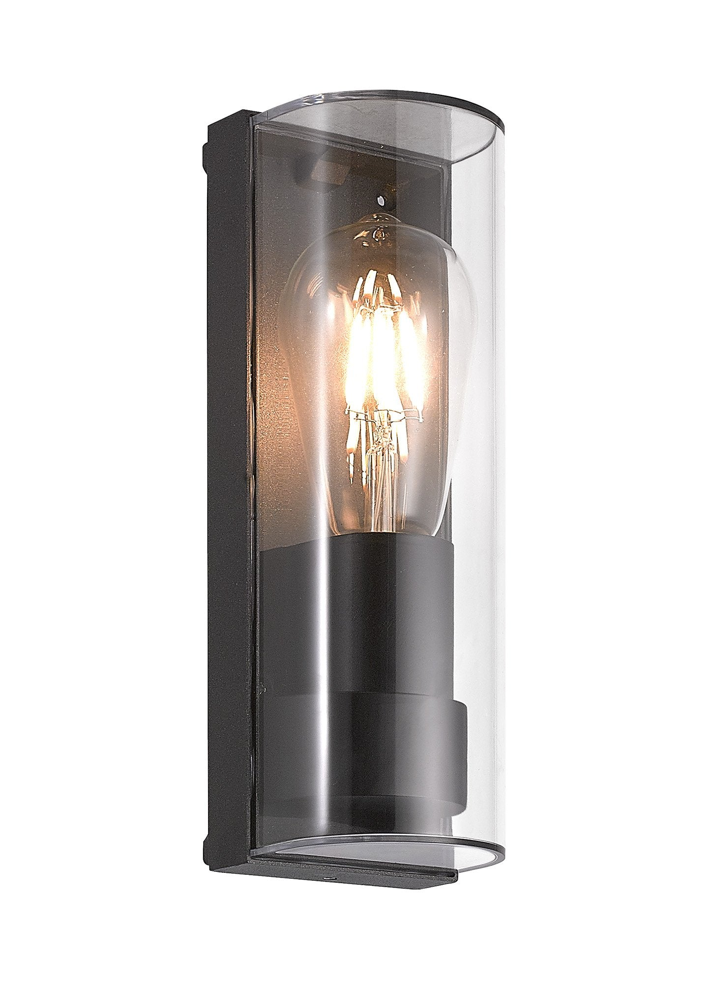 HOURGLASS Wall Lamp Curved, 1 x E27, IP65, Anthracite, 2yrs Warranty (2LT334A)