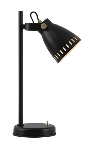 NOIR Adjustable Table Lamp, 1 x E27, Matt Black/Antique Brass/Khaki
