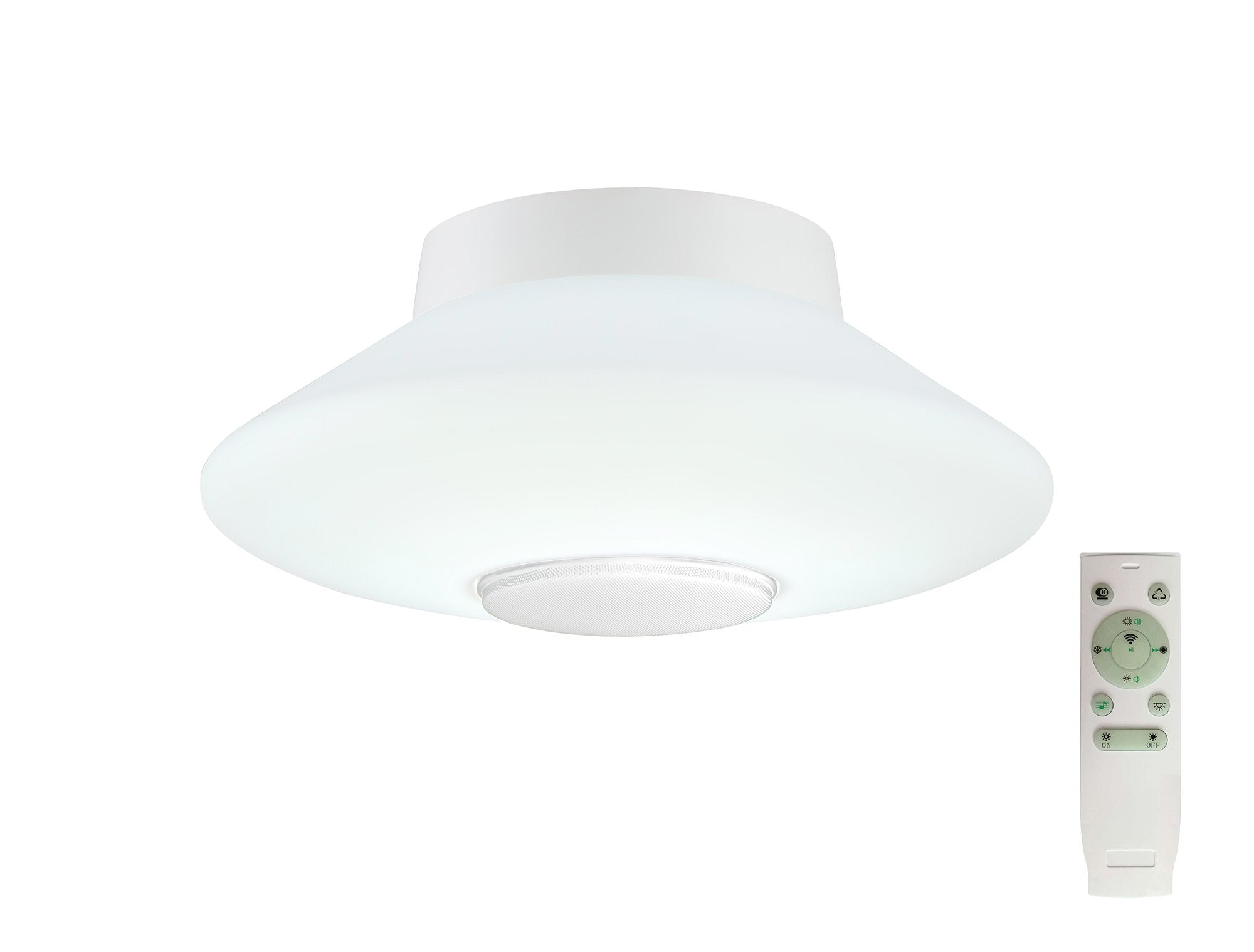 ROSWELL Flat Ceiling, RGB/Tuneable White Remote Control/App Control With Built In Spea