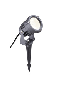 SPIKE Spike Light, 1 x 15W LED, 3000K, 1050lm, 30 Degree, IP65, Grey/Black, 3yrs Warranty (2LT315B)