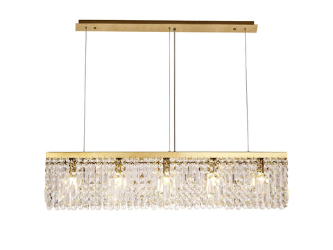 Titanic Rectangular Pure Crystal Chandelier