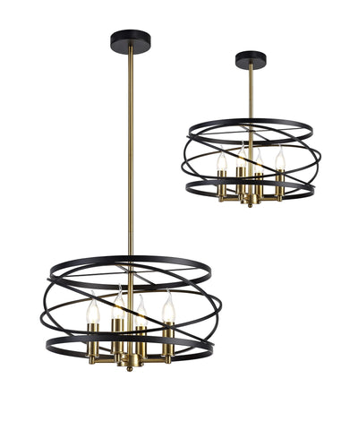 Twister Candleabra Style Pendant