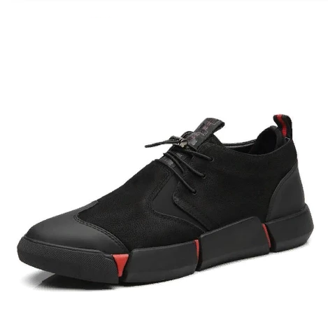 BLACK MEN'S CASUAL SNEAKERS