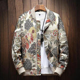 Men Jacket Japanese Embroidery
