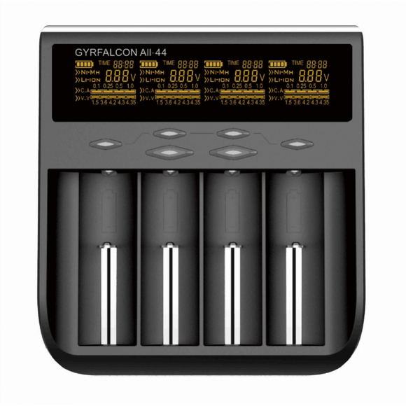 Gyrfalcon All-44 Quad Bay AC Battery Charger-Vapour Titan