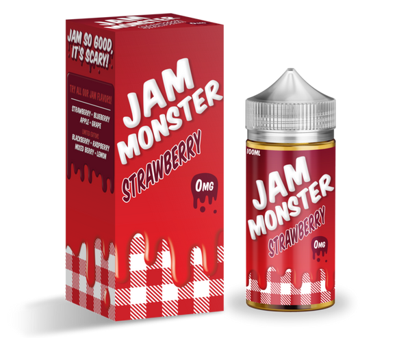 Jam Monster Strawberry 100ml-E-Liquid-Vapour Titan