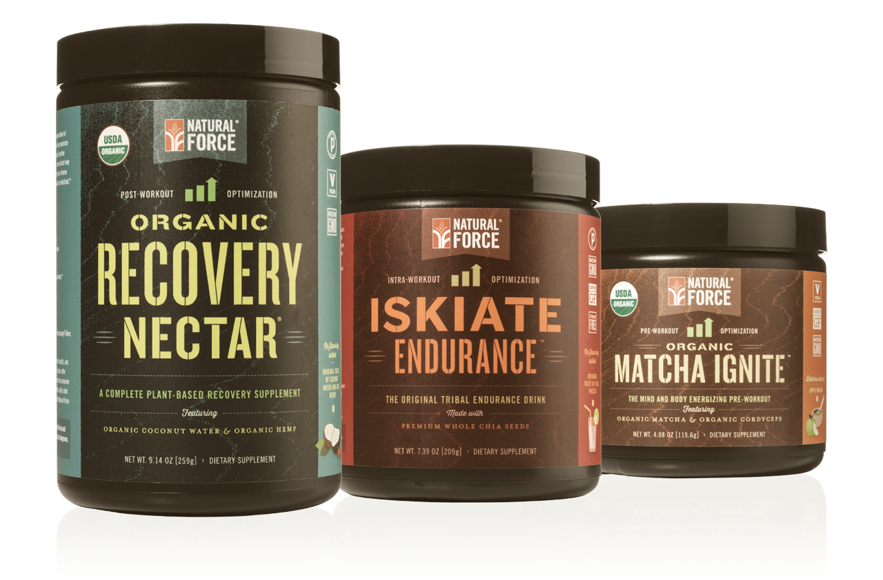 Organic Training Stack™ w/ Apple Matcha Pre-Workout - Natural Force - 2