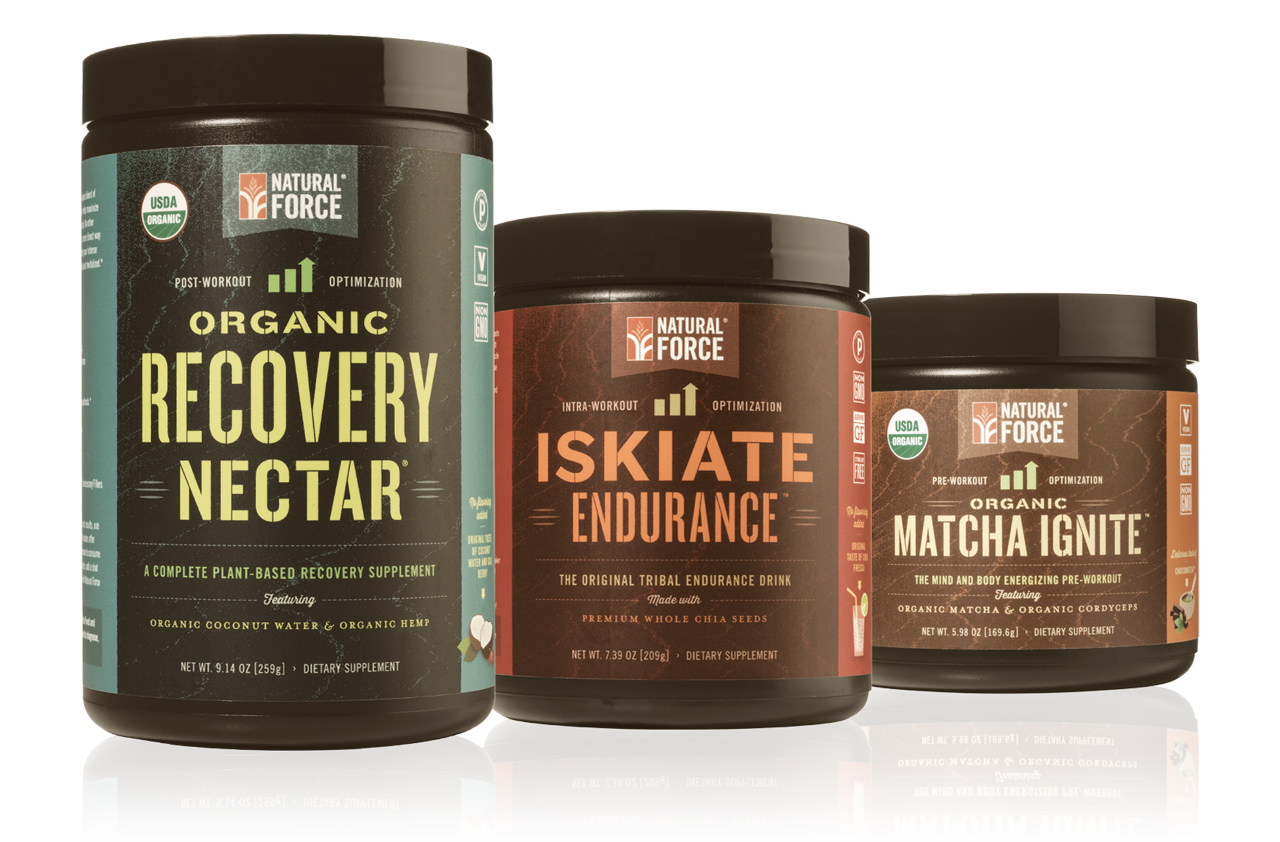 Organic Training Stack™ w/ ChocoMatcha™ Pre-Workout - Natural Force - 1