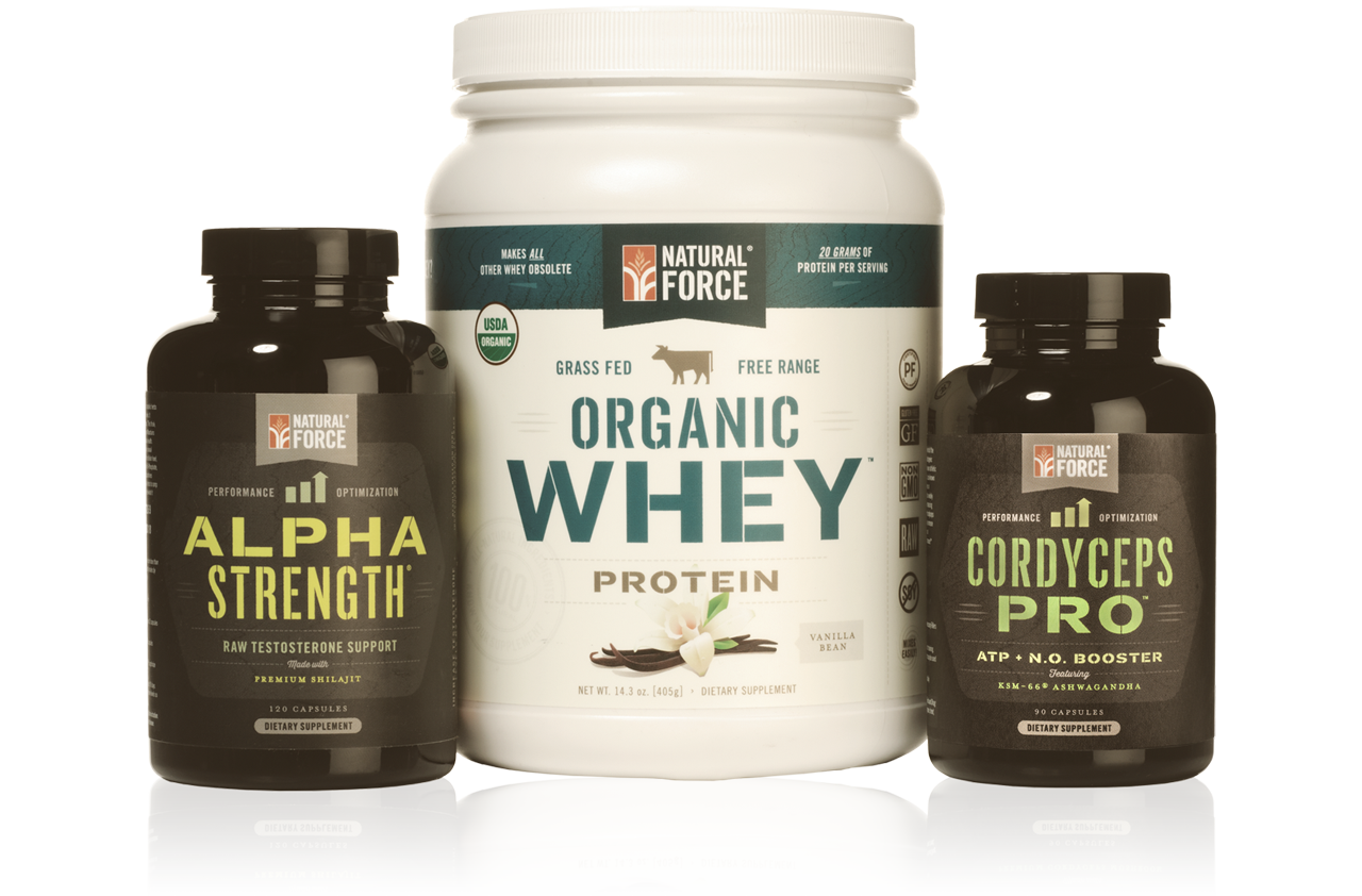 Muscle Building Stack w/ Vanilla Whey - Natural Force - 1
