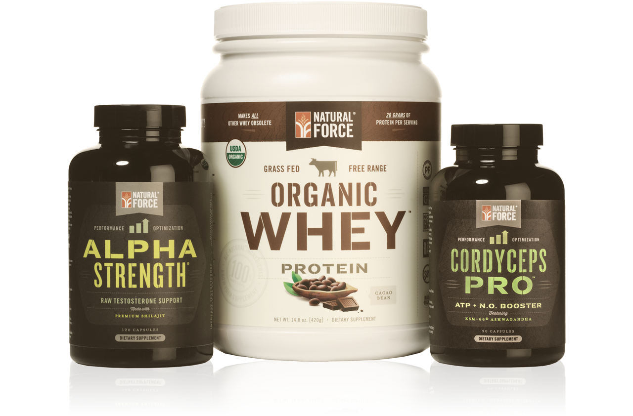 Muscle Building Stack w/ Chocolate Whey - Natural Force - 2